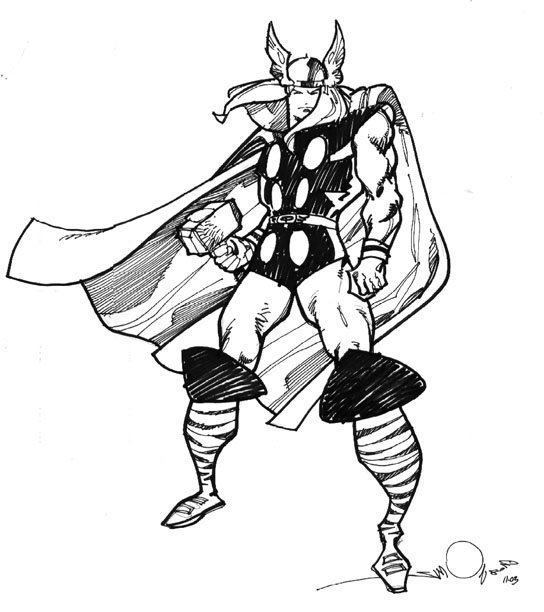 Free Coloring Pages Of Thor Marvel