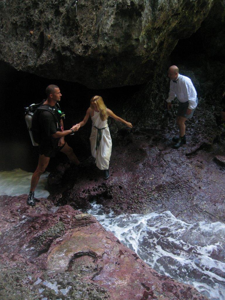 the saipan blog underwater grotto wedding