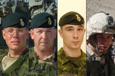 Sergeant Patrick Tower, Sergeant Michael Thomas Victor Denine, Master Corporal Collin Ryan Fitzgerald, Private Jason Lamont