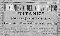 Naufraga el Titanic, 15 de abril de 1912