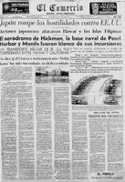 Ataque a Pearl Harbor, 7 de diciembre de 1941
