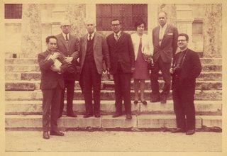 Miguel Maticorena con Juan de Mata Carriazo, Marcel Bataillon, Juan Ossio, Guillermo Obando y Josep Barnadas en Sevilla, mayo de 1968