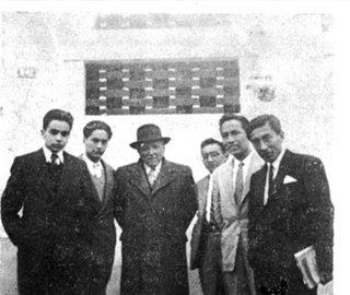 Pablo Macera, Miguel Maticorena, Raúl Porras y Manuel Capuñay