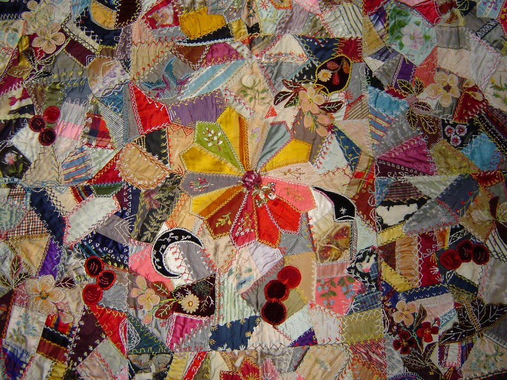 In The Fold Antique Crazy Quilts Floral Quilt