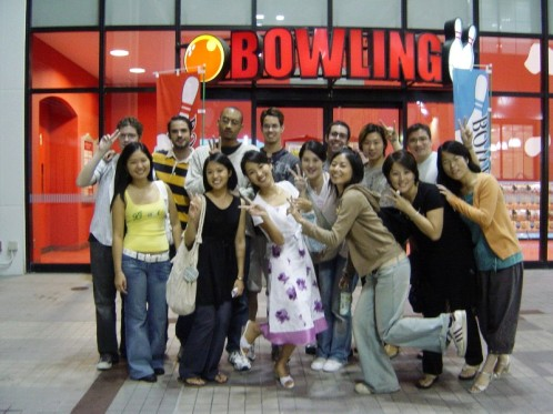 The Yamasa Institute, Summer 2006, class K and class L bowling party in Anjo