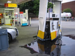 petrol station accident
