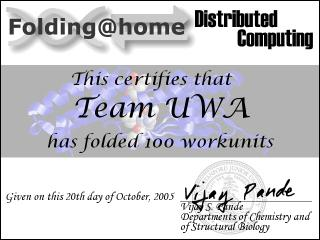 100 units folded certificate