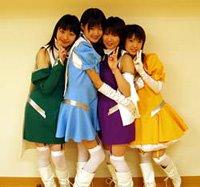 (l-r)Maruyama Miki (Miki), Shihono Ryou (Tomo), Chihara Minori (Erika), Hirama Juri (Fuyumi)