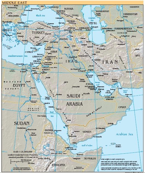 Hibco middle east map from cia world fact book middle east map from cia world fact book gumiabroncs Images