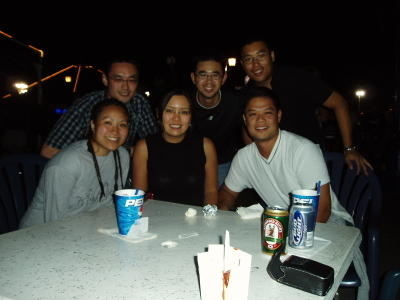 Ken, Me, Andy, Heidi (dreads), Serena & Mike @ the Docks