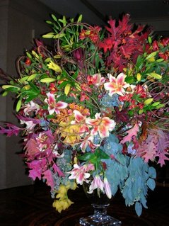 The Flower Bouquet Arrangement in the Miramont Country Club Foyer