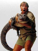 Steve Irwin and friend