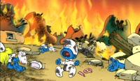Hell unleashed on the Smurfs, of all people