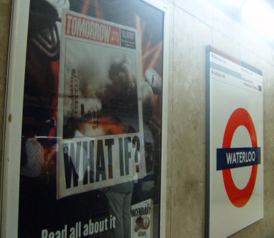 Incendiary poster at Waterloo