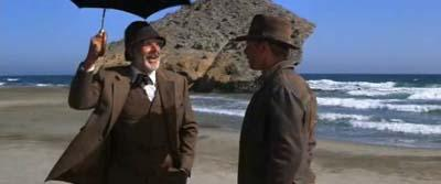 Sean Connery y Harrison Ford en Indiana Jones