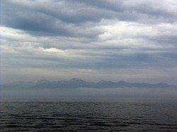 In Aomori Bay - view of the Aomori coast - May 10, 2006