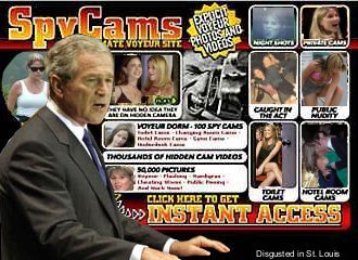 George Bush Spy Cams
