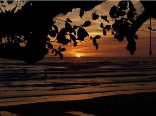 Sunset in Koh Chang Island Thailand