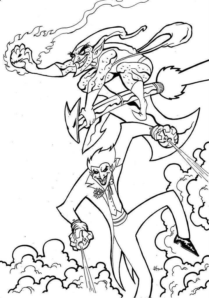 Image Of Dibujos Para Colorear Del Hombre Arana Y El Duende Verde ...