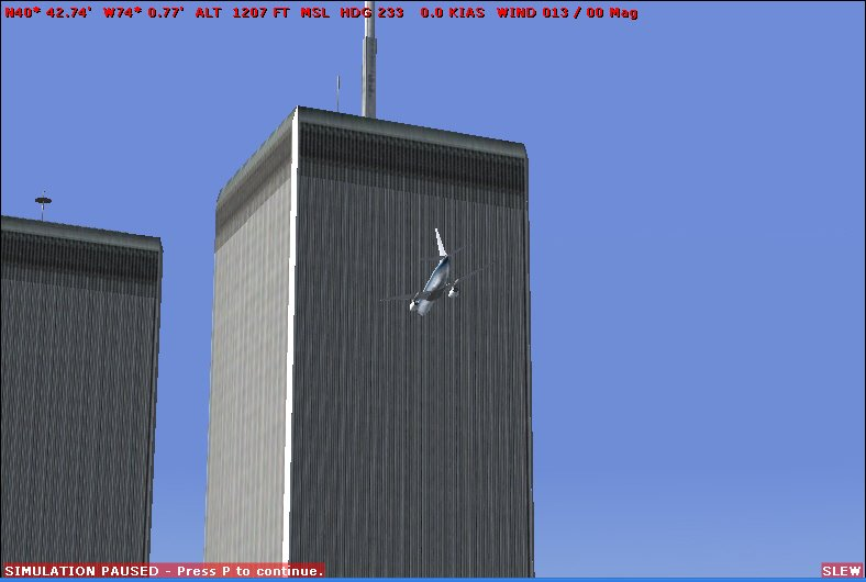 Humint events online what kind of plane hit the north tower