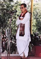 Amartya Sen in dhoti
