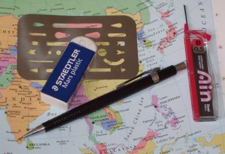 Pentel Sharp Drafting P205 P203 P207 P209 Mechanical Pencils Automatic Blue Gift