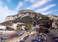 A photomontage of the failed Gibraltar Funicular project turned down by the Planning Commission today - Click to view larger image.