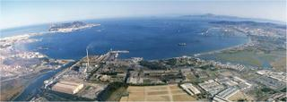 The Bay of Gibraltar - A view overlooking the Cepsa Refinery in Los Barrios