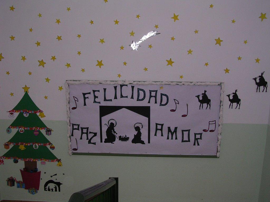 Colegio de el campillo sevilla mural navide o for Mural navideno