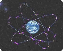 Representación de la constelación de satélites Galileo