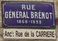 Plaque de rue à Guémené-sur-Scorff, 56 Morbihan, France, lieu de naissance du général