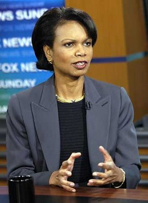 Condoleezza Rice Greeted With Racist Images By Palestinian Media