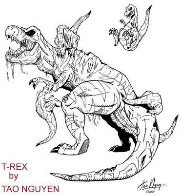 tao nguyen s art b w drawing samples tao nguyen s t rex drawing