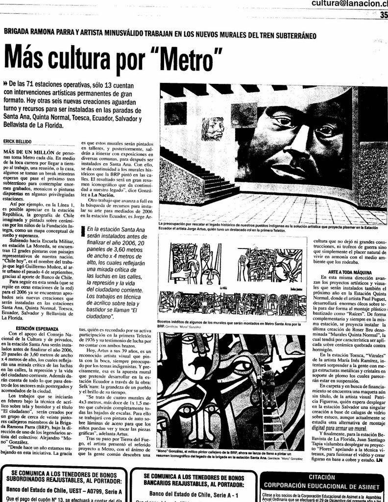 Mono gonz lez prensa para la memoria for Articulo de cultura para periodico mural
