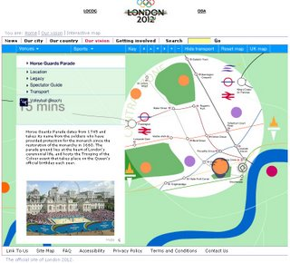 Interactive Olympic Venue Map