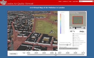 Air Quality 3D Map London