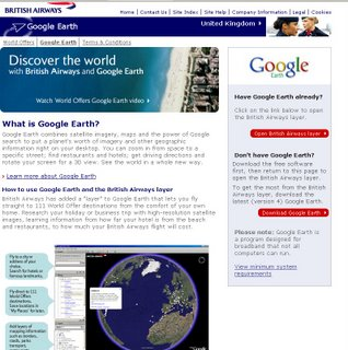 British Airways and Google_Earth