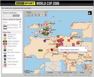 BBC World Cup 3D Map
