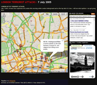 London Bombings Map