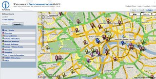 London Tourist Information Map