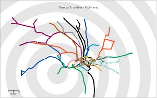 Travel Time Tube Map