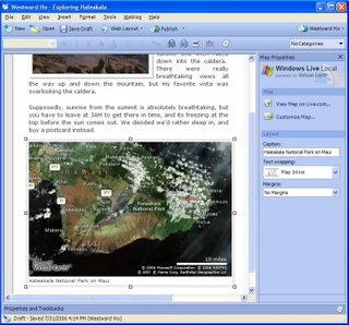 Windows Live Writer Publish Maps