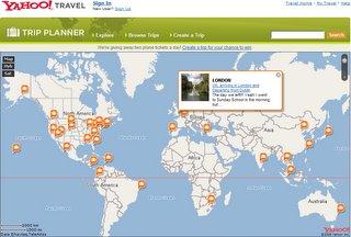 Yahoo Trip Planner Map