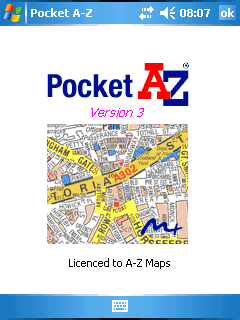 A to Z Maps on mobile phone/PDA