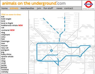 Animal Map - London Underground
