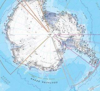Upside-down Map of Antarctica