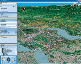 ArcGIS Explorer Beta Screensot