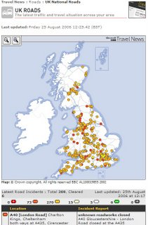 BBC National Travel Interactive Map