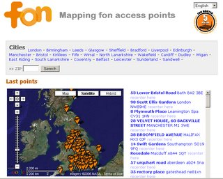 FON maps wireless access