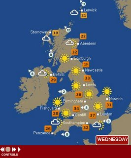 Hot Temperature Map UK